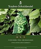 50 bolsas protectoras para las uvas, tamaño 30x20 cm, color: verde oscuro, para la protección contra las avispas, pájaros, moscas de la cereza e insectos. Bolsas protectoras para frutas, organza