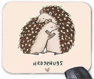 Mousepad Cute Funny Animal Puns Hedgehog Embracing Pattern Mouse Mat