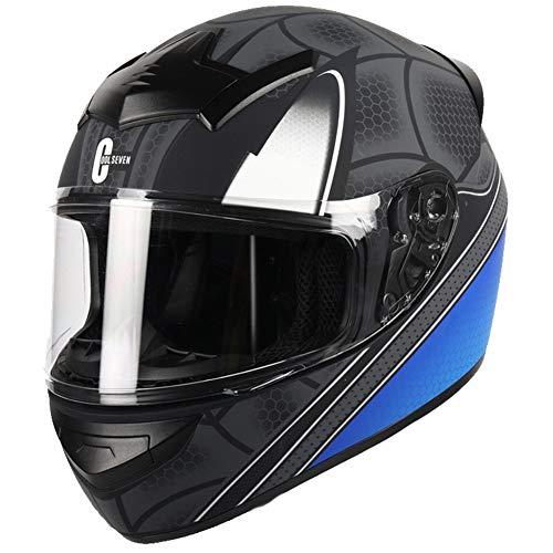 Dajie Casco de motocicleta de cara completa, compacto, antivaho, cálido, para motocross, todoterreno, todoterreno, unisex, aprobado por DOT, color negro mate, XXXL