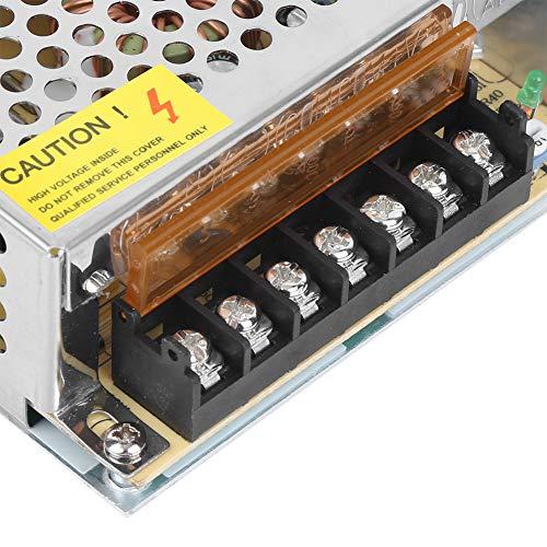 Transformador de fuente de alimentación estable Disipación de calor rápida LED Interruptor de fuente de alimentación seguro para ingeniería informática (12V10A (120W), rosa)