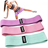 Lordwey Fabric Hip Bands 3 Pack Set. Wide, Non-Slip, Stretch, Fabric Resistance Bands for Rubber Bands Expander Elastic Band for Fitness Elastic Bands Resistance Exercise Equipment