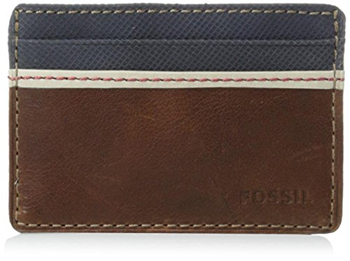 Fossil Card Case Wallet, Elgin-Brown