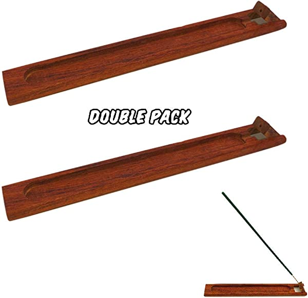 Lovhome Antique Wood Incense Holder Burner Ash Catcher 2 Holders Package
