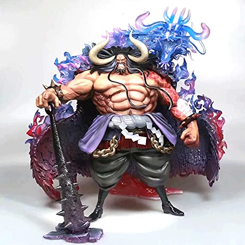 YANGENG ONE Piece Kaido14 in Four Emperors and Beasts Oversized Version Fighting Position Anime Character Model PVC Material Statue Action Figure Adult Toys Collection Desktop Decorations Gift