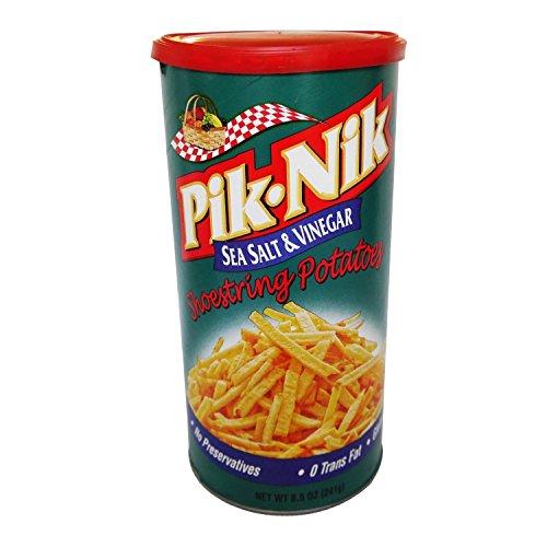Pik Nik Sea Salt & Vinegar Shoestring Potatoes - 8.5 Oz. Cans (2 Pack)