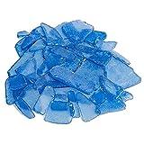 LYMHGHJ Sea Glass Caribbean Blue Tumbled Sea Glass Decor Cobalt Bulk Seaglass Piezas Vidrio Esmerilado Decorativo para Acuario Beach Wedding Party Decor Decoración para el hogar Suministros para Man