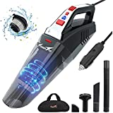 Car Vacuum, Towetop Portable Vacuum Cleaner for Car, 12V 5500PA High Power Handheld Vacuum Cleaner with 16.4FT(5M) Power Cord, Wet Dry Use
