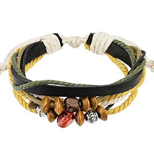 Paula & Fritz® armband zwart leer bedelarmband Beads Mix lengte breedte dik.