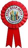 LTM Help Volunteers Ribbon Badges Red (Pack of 25)