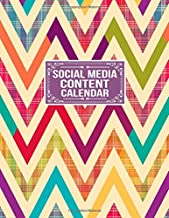 Social Media Content Calendar: Social Media Business Planner Posts Planner Advert Planner and Social Media Analysis