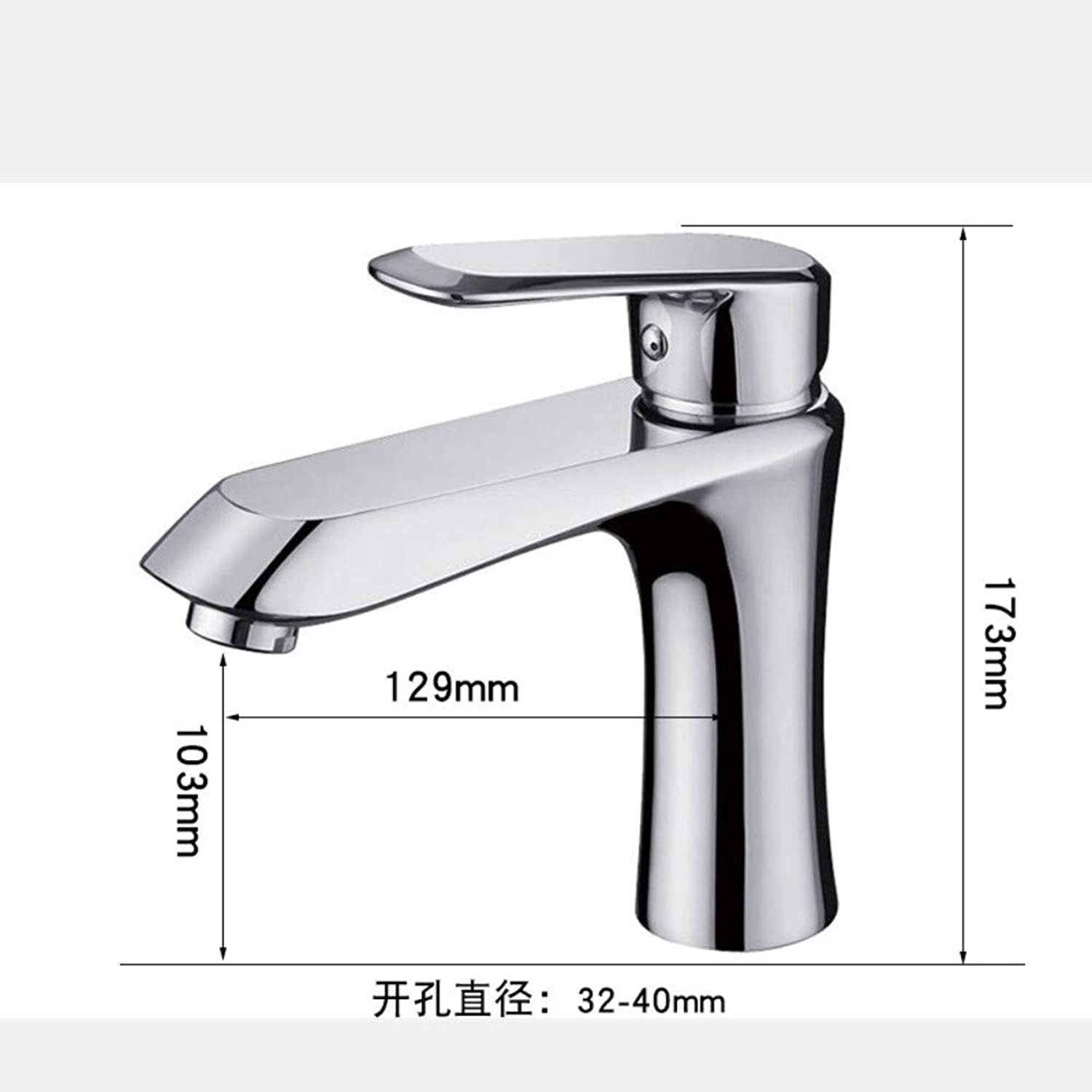 JONTON Mixer Faucet Mixer Faucetwashbasin Faucet_Manufacturer Orb Black Brushed Basin Faucet Hot And Cold Bathroom Washbasin Faucet, Chrome Short