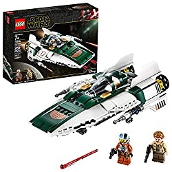 Image: LEGO Star Wars: The Rise of Skywalker Resistance A-Wing Starfighter 75248 Advanced Collectible Starship Model Building Kit (269 Pieces)