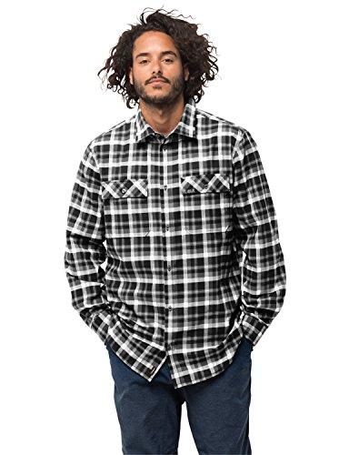Jack Wolfskin Uomo Bow Valley Shirt Outdoor Viaggio Tempo Libero Camicia Traspirante, Uomo, 1402541-7851003, Nero a Scacchi, M