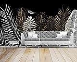 Papier Peint 3d Arbre De Noix De Coco Doré Style Croquis Noir Et Blanc Papier Peints Intissé Décoration Murale Home Decor Art 350cmx250cm