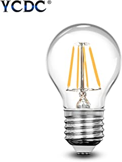 YCDC Dimmable 4W G45 E26 Mini Globe LED Filament Bulb Edison Screw Antique Clear Golf Ball 40W Incandescent Equivalent