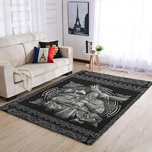 LL·Shawn Alfombras de área vikingas y lavables para sala de estar, muy lindas, cómodas, para niñas y niños, color blanco, 122 x 183 cm