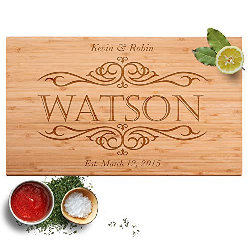 Personalized Cutting Board, 12 Designs & 2 Sizes, Bamboo Cutting Board, Wedding Gifts for Couple,...