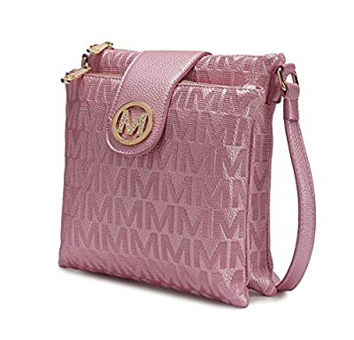 MKF Crossbody Bags for women – Cross body Strap, Messenger Purse – PU Leather Handbag, Womens Fashion Pocketbook Pink