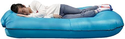 Longues MAZHONG Portable gonflable de sofa de poche paresseux extérieur se pliant portatif (Couleur   Bleu)