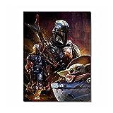 Wsxyhn Sky Walker Posters Película Star-Wars Lienzo Impresiones Pintura Pared Arte Imagen para Sala De Estar Decoración del Hogar-50X70Cm Sin Marco