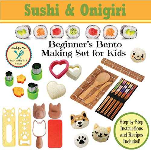 Sushi & Onigiri - Beginner's Bento Making Set for Kids - w/Step-by-step Easy Recipes & Instructions/BEST SELLER! Ships FAST and FREE!