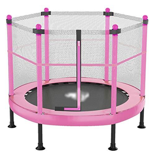 YSHCA 40 Pulgadas Trampolín Fitness, Plegable Cama Elástica con Red de Seguridad Mini Trampolín incluida la Cubierta del Borde Sistema de Cuerda elástica para Niños,Pink