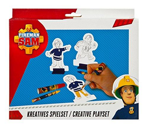 Undercover FSBT4001 - Feuerwehrmann Sam Kreatives Spielset, mit Diorama, Pappaufstellern, Fasermalern, Kreiden und Stickern, 34 teilig
