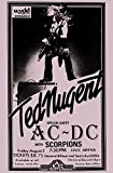 Innerwallz Ted Nugent with AC/DC and Scorpions Live 1979 Retro Art Print — Poster Size — Print of Retro Concert Poster — Features Ted Nugent, Charlie Huhn, Walt Monaghan and Cliff Davies.