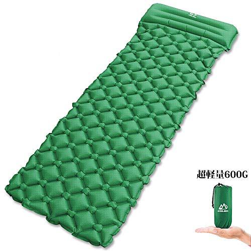 エア-マット キャンピングマット テントマット KOOLSEY エアーベッド 超軽量型 耐水加工 アウトドア 寝袋 ...