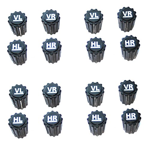 16x Reifenmarkierung Ventilkappen REIFENMARKIER Set Radmarkierer Kennzeichnung Winterreifen Sommerreifen Winterräder Reifenwechsel