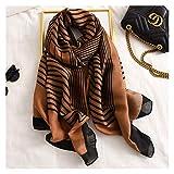 Naikaxn Sciarpa Sciarpa da Donna Scialle Scialle in Cotone Lady Fashion Sciarpe Avvolgibile Hijab Silenzio Morbido (Color : 3, Size : One Size)