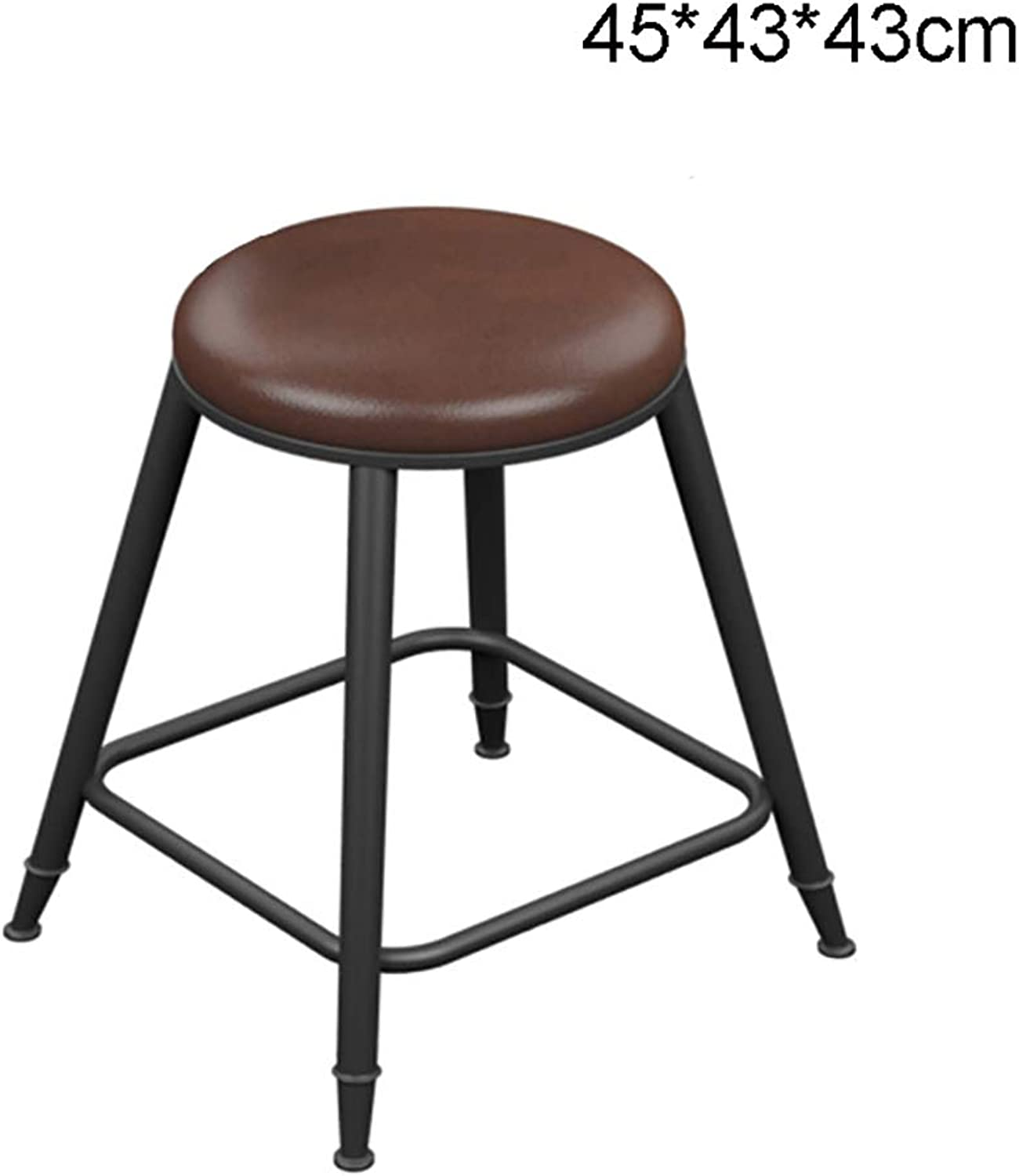 LYXPUZI Barhocker Iron Wood bar Stool bar Stool high Stool high Chair bar Stool bar Chair Front Chair Frühstücksschemel (Size   45  43  43cm)
