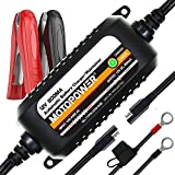 MOTOPOWER MP00205C 12V 800mA Automatic Battery Charger, Battery Maintainer, Trickle Charger, and Battery Desulfator