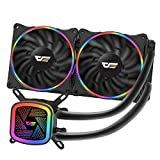 darkFlash DT240 240mm Water Liquid Cooling AIO Cooler Radiator with 120mm LED Rainbow Static Lighting Case Fan CPU Cooler (DT240 (Rainbow))