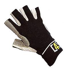 crazy4sailing Damen Herren Segelhandschuhe Racing - 5 Finger-frei, Farbe:schwarz, Größe:M