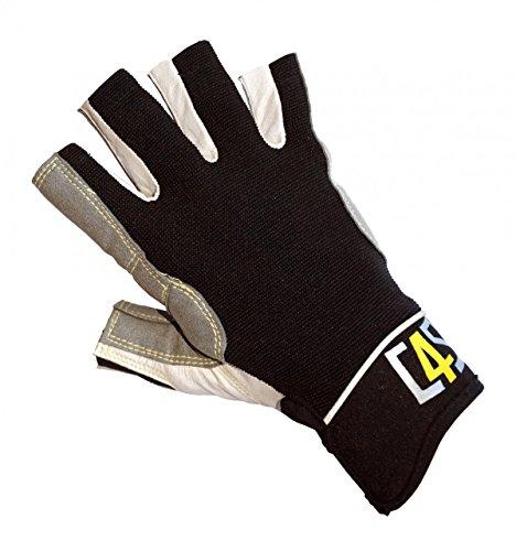 crazy4sailing Damen Herren Segelhandschuhe Racing - 5 Finger-frei, Farbe:schwarz, Größe:XS
