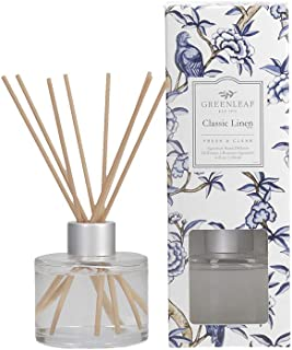 GREENLEAF Signature Reed Diffuser - Classic Linen - Lasts Up to 30 Days - Made in The USA