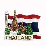 3D-Kühlschrankmagnet, Motiv: Bangkok, Thailand, Nationalflagge, Souvenir, Geschenk, Heim- & Küchendekoration, magnetischer Aufkleber, Bangkok, Thailand Kühlschrankmagnet-Kollektion