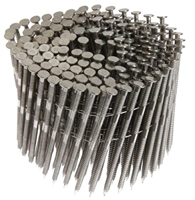 Grip Rite Prime Guard MAXC62885 15-Degree Wire Coil 2-3/16-Inch by .09-Inch Ring Shank, Stainless Steel Siding Nails, 1200 Per Box