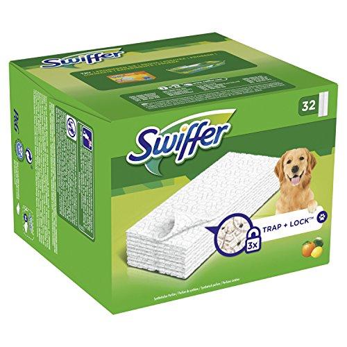 Swiffer Trockene Bodentücher Nachfüllpackung (für Haustierbesitzer), 32 Tücher