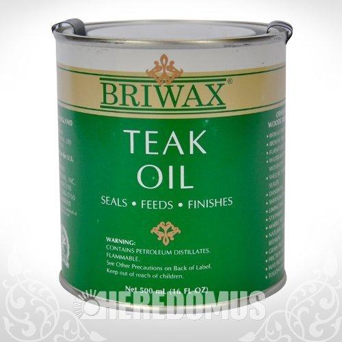 Briwax Teak Oil, 500 mL/16 oz. by Briwax Teak Oil 16 fl oz