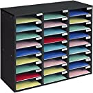 Really Good Stuff Mail Center – 1 Black Classroom or Home Literature Organizer with 27 Slots – Keep Your Classroom, Office, or Distance Learning Space Organized, Durable, Easy Assembly