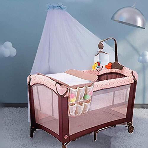 Crib Xinjin Lit de bébé Respirant Travel Out Play Play Portable Safety Protection Baby Berceau Pliant avec poulie pour Nourrissons et lit d'enfant