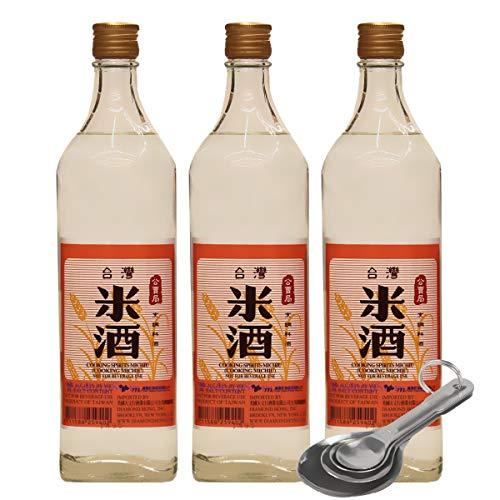 [Pack of 3] [Free Measuring Spoon] Taiwan TTY Brand Cooking Michiu (Rice Wine), 台灣公賣局 米酒 - 750 mL