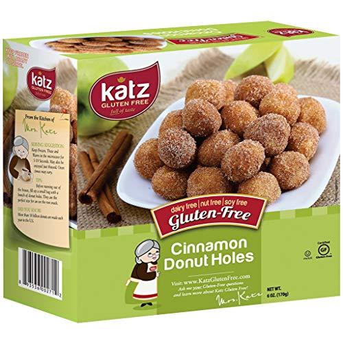Katz Gluten Free Cinnamon Donut Holes | Dairy Free, Nut Free, Soy Free, Gluten Free | Kosher (1 Pack, 6 Ounce)