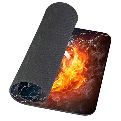 Amcove Mouse Pad Football Ball in Fire and Water Mousepad Rubber Gaming Mat 9.5 X 7.9 Inch (240mmX200mmX3mm) Photo #5