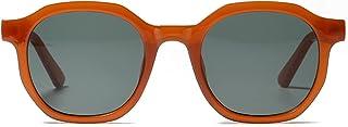 ShZyywrl - Gafas De Sol Gafas De Sol Redondas para Hombre, Estilo Retro, Gafas De Sol Negras Y Naranjas para Mujer, Uv400, Regalos De Cumpleaños De Moda Dropship