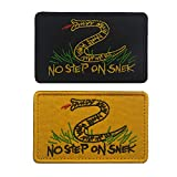 SOUTHYU 2 Pieces Embroidered No Step On Snek Tactical Morale Patches Military Emblem