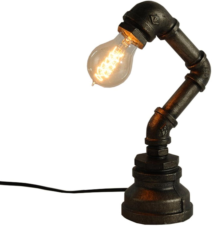 Tischlampe, Iron American American American Village Retro Wasserpfeifen Antike Schlafzimmer Studie Bar Lichter 150MM × 300MM Energie sparen B07JG1D1DY | Ausgezeichneter Wert  eeaa90