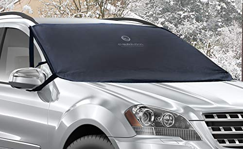 Evautolution Premium Windshield Snow Cover - Car Snow Cover Guards Your Windshield & Wipers from Snow, Ice and Frost
